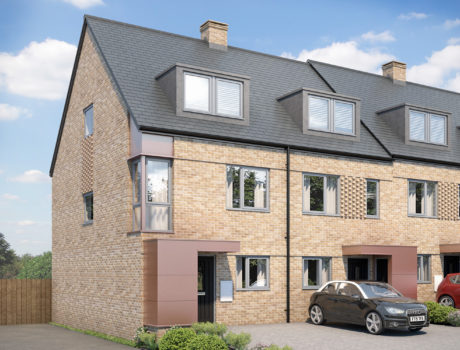 Architectural CGI impression of the Nightingale house type on the Papworth housing development