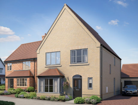 Architectural CGI impression of the Byron house type on the Papworth housing development